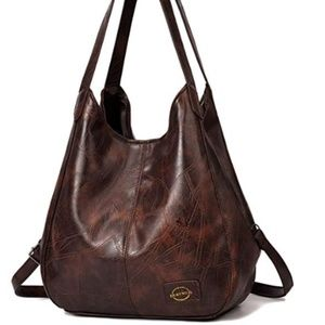 Handbag for Women 3 Compartments Faux Leather